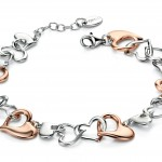 Two Colour Heart Bracelet